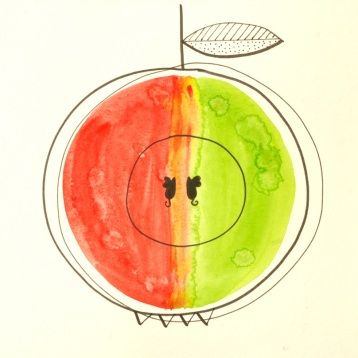22 Version DADA aquarelle pomme