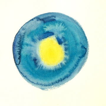 8 aquarelle bleue